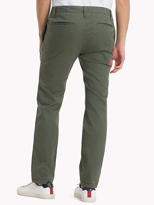 TOMMY JEANS Cotton Twill Slim Fit Chinos - THYME - TOMMY JEANS Clothing - detail image 1