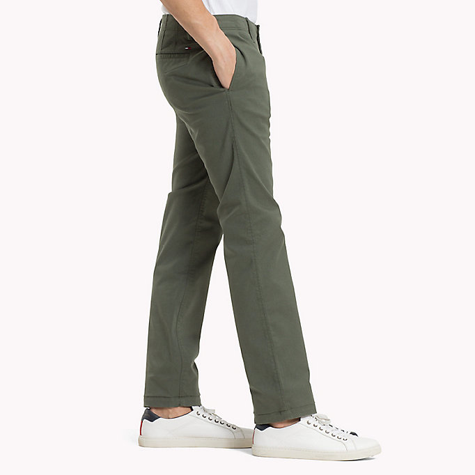 TOMMY JEANS Slim Fit Chinos aus Baumwoll-Twill - SESAME - TOMMY JEANS Kleidung - main image 2