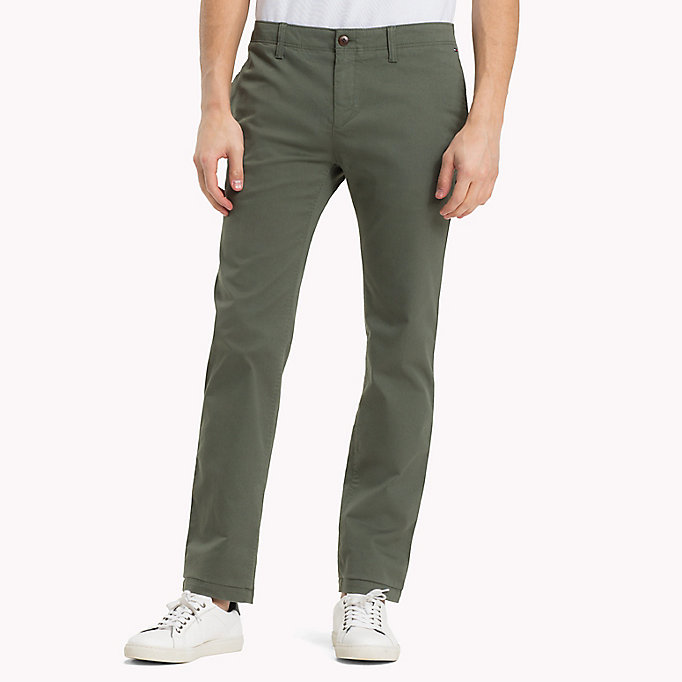 TOMMY JEANS Slim Fit Chinos aus Baumwoll-Twill - SESAME - TOMMY JEANS Kleidung - main image