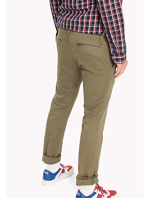 TOMMY JEANS Cotton Twill Slim Fit Chinos - DEEP LICHEN - TOMMY JEANS MEN - detail image 1