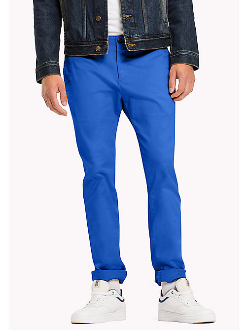 TOMMY JEANS Slim Fit Chinos aus Baumwoll-Twill - NAUTICAL BLUE - TOMMY JEANS Herren - main image