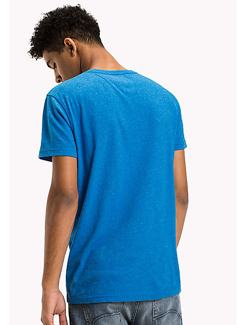 TOMMY JEANS Cotton Blend Logo T-Shirt - INDIGO BUNTING -  T-Shirts - detail image 1