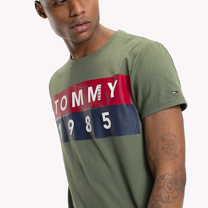 TOMMY JEANS Cotton Logo T-Shirt - BLACK IRIS - TOMMY JEANS Clothing - detail image 2