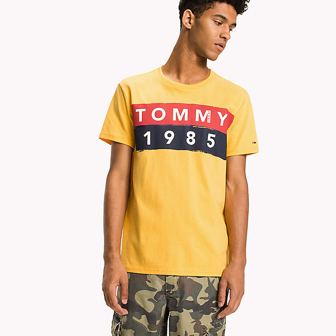 TOMMY JEANS Cotton Logo T-Shirt - CLASSIC WHITE - TOMMY JEANS Clothing - main image