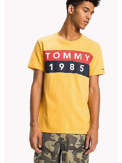 TOMMY JEANS Cotton Logo T-Shirt - ARTISANS GOLD - TOMMY JEANS T-Shirts - main image
