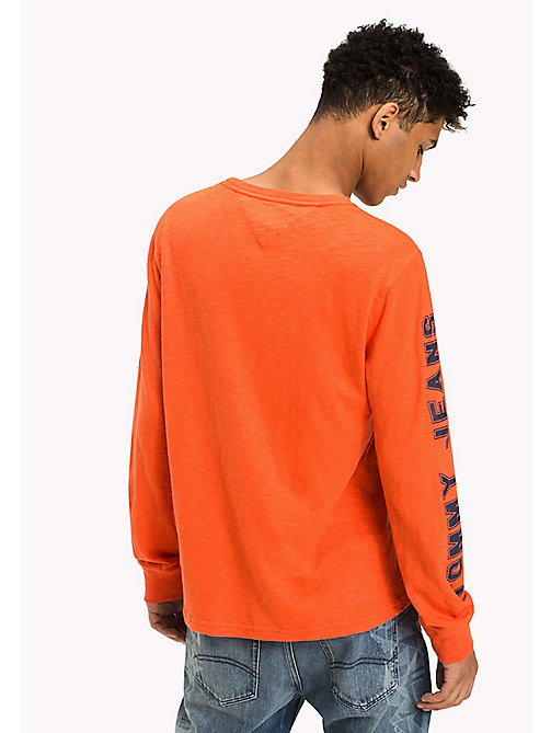 TOMMY JEANS Jersey Logo T-Shirt - SPICY ORANGE - TOMMY JEANS T-Shirts & Polos - detail image 1