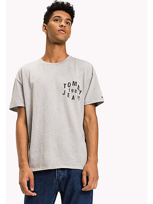 TOMMY JEANS Jersey Logo T-Shirt - LT GREY HTR -  T-Shirts - main image