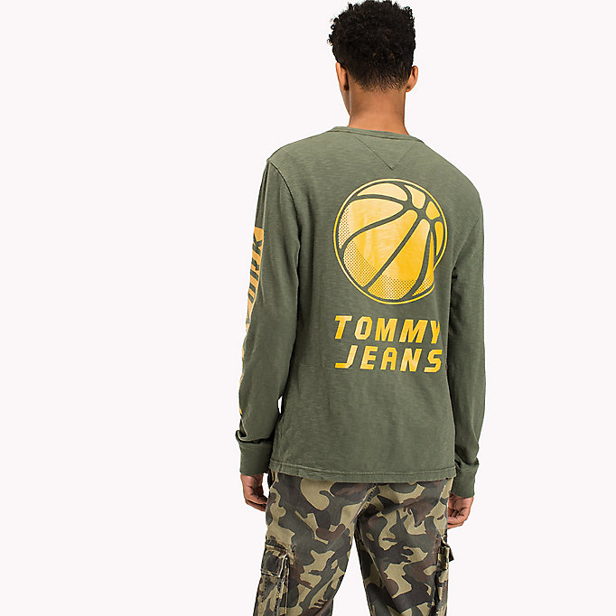TOMMY JEANS College-T-Shirt aus Jersey - BLACK IRIS - TOMMY JEANS Kleidung - main image 1