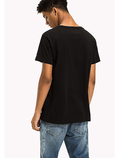 TOMMY JEANS Organic Cotton Logo T-Shirt - TOMMY BLACK - TOMMY JEANS T-Shirts - detail image 1