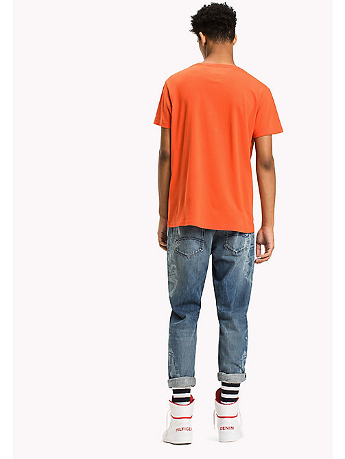 TOMMY JEANS Organic Cotton Logo T-Shirt - SPICY ORANGE - TOMMY JEANS T-Shirts - detail image 1