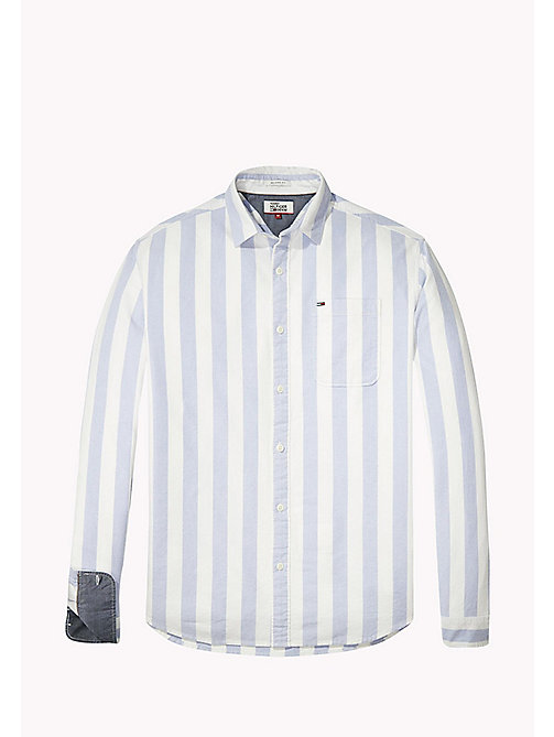 TOMMY JEANS Cotton Regular Fit Striped Shirt - CLASSIC WHITE - TOMMY JEANS Shirts - detail image 1