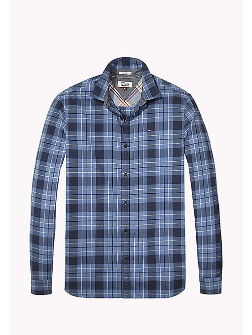 TOMMY JEANS Cotton Regular Fit Checkered Shirt - BLUE HORIZON - TOMMY JEANS Shirts - detail image 1