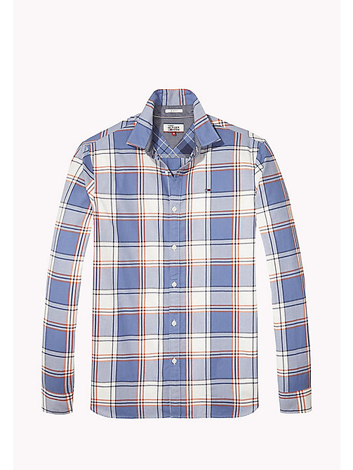TOMMY JEANS Cotton Regular Fit Checkered Shirt - SPICY ORANGE - TOMMY JEANS Shirts - detail image 1