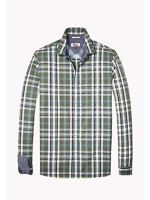 TOMMY JEANS Poplin Regular Fit Checkered Shirt - THYME - TOMMY JEANS Shirts - detail image 1
