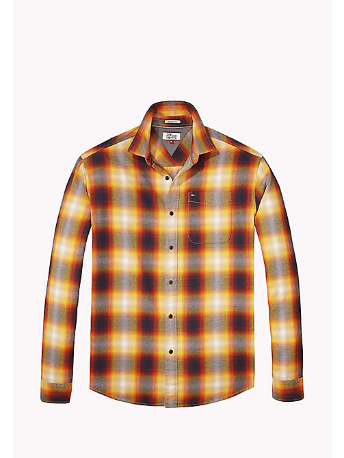 TOMMY JEANS Cotton Twill Regular Fit Checkered Shirt - ARTISANS GOLD - TOMMY JEANS Shirts - detail image 1
