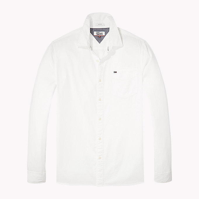 TOMMY JEANS Cotton Pique Regular Fit Shirt - THYME - TOMMY JEANS Men - detail image 1