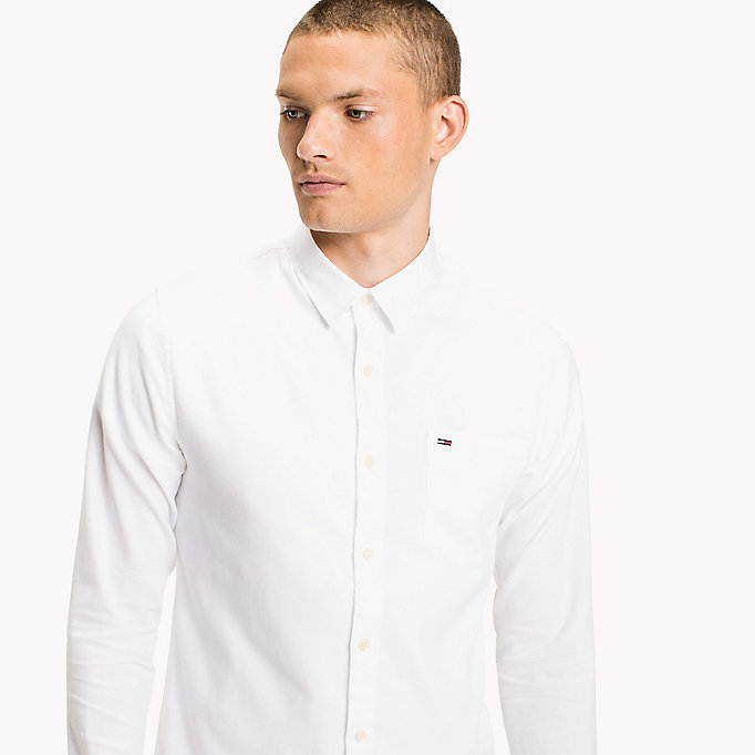 TOMMY JEANS Cotton Pique Regular Fit Shirt - THYME - TOMMY JEANS Men - detail image 3