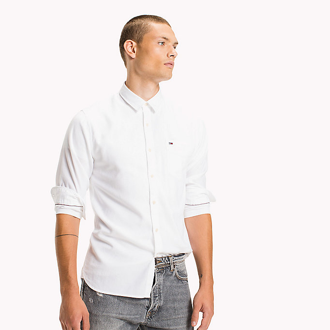 TOMMY JEANS Cotton Pique Regular Fit Shirt - THYME - TOMMY JEANS Men - detail image 4