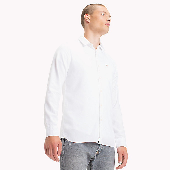 TOMMY JEANS Cotton Pique Regular Fit Shirt - THYME - TOMMY JEANS Men - main image