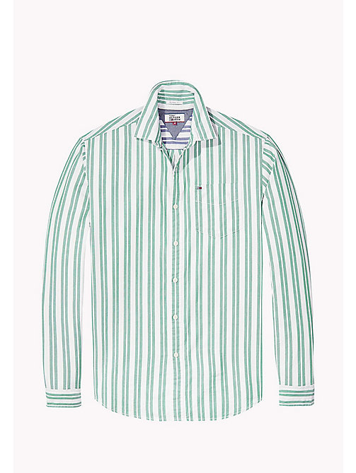 TOMMY JEANS Cotton Dobby Regular Fit Shirt - EVERGREEN - TOMMY JEANS Shirts - detail image 1