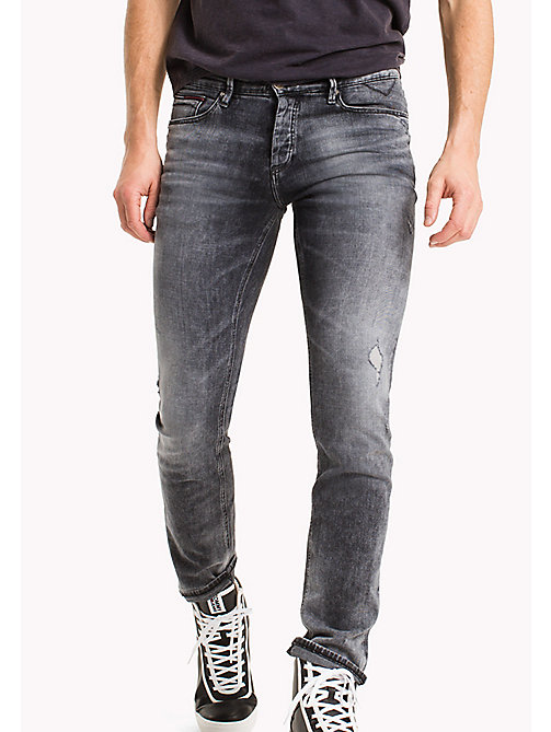 TOMMY JEANS Destructed Slim Fit Jeans - DENVER GREY COMFORT DESTRUCTED - TOMMY JEANS TOMMY JEANS MEN - main image