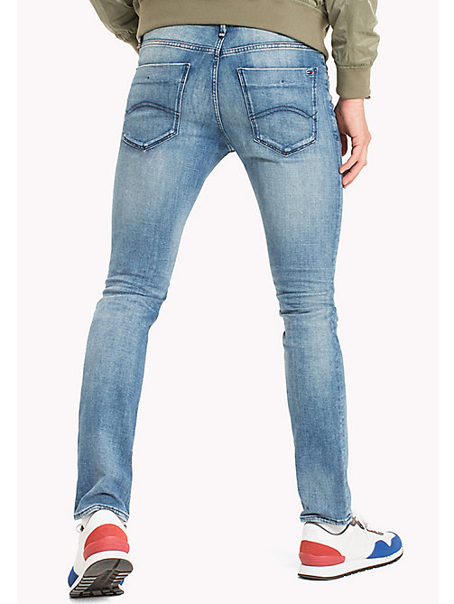 TOMMY JEANS Distressed Slim Fit Jeans - DENVER LIGHT BLUE COMFORT - TOMMY JEANS MEN - detail image 1