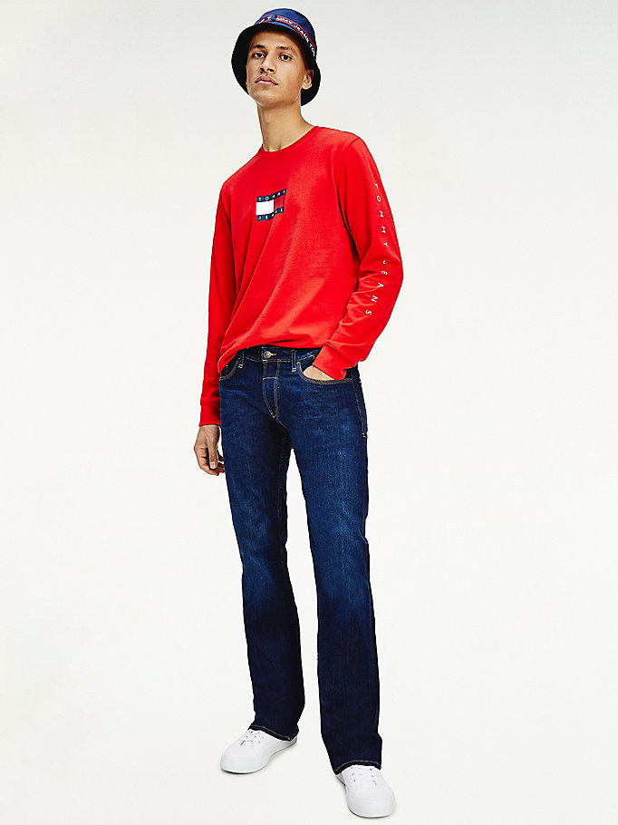 denim ryan bootcut fit stretch-jeans für men - tommy jeans
