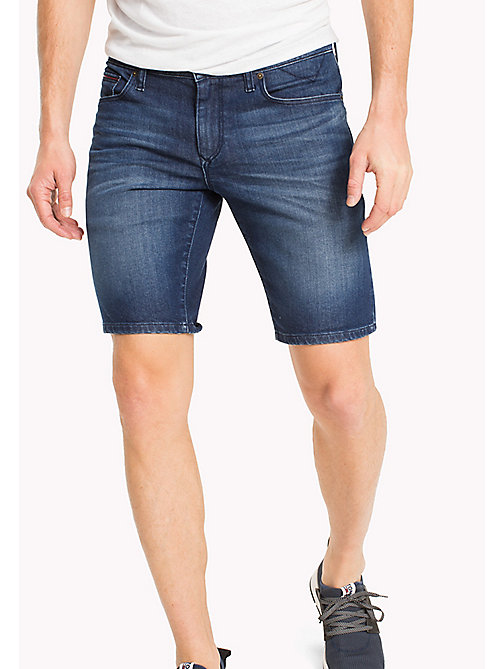 TOMMY JEANS Denim Slim Fit Shorts - CLASSIC MID BLUE COMFORT - TOMMY JEANS Trousers & Shorts - main image