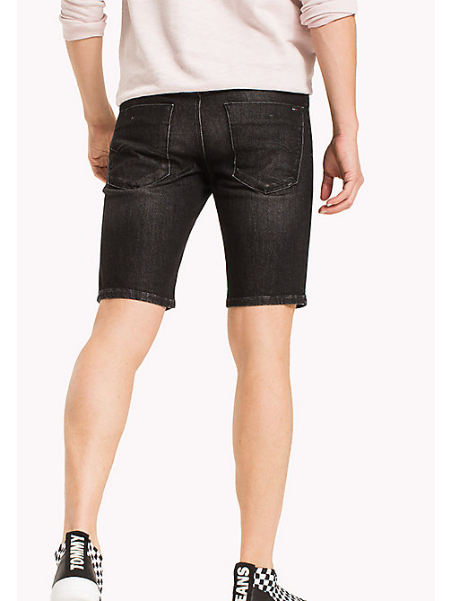 TOMMY JEANS Denim Slim Fit Shorts - CLASSIC BLACK COMFORT - TOMMY JEANS Shorts - detail image 1