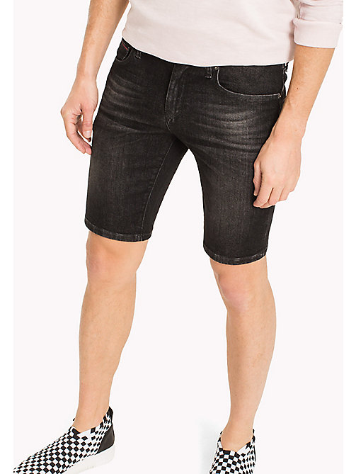 TOMMY JEANS Denim Slim Fit Shorts - CLASSIC BLACK COMFORT - TOMMY JEANS Clothing - main image
