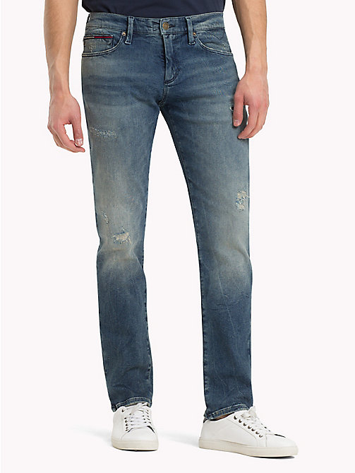 TOMMY JEANS Scanton Slim Fit Jeans - DYNAMIC STOCKTON MID BLUE STR. DESTR. - TOMMY JEANS Clothing - main image