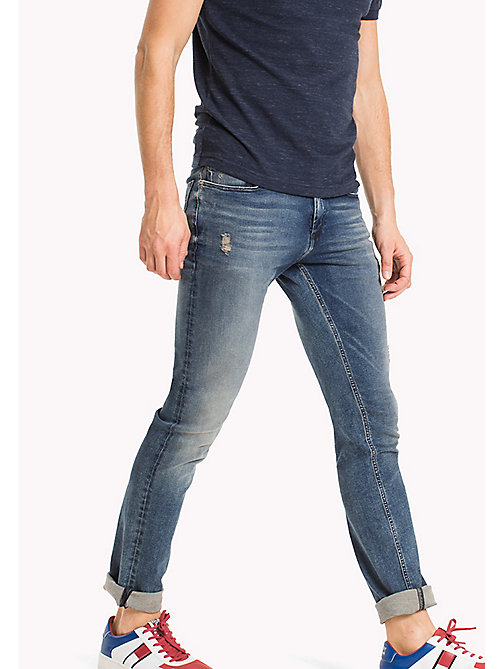 TOMMY JEANS Jeans slim fit stretch - DYNAMIC IRVINE MID BLUE STRETCH - TOMMY JEANS TOMMY JEANS UOMINI - immagine principale