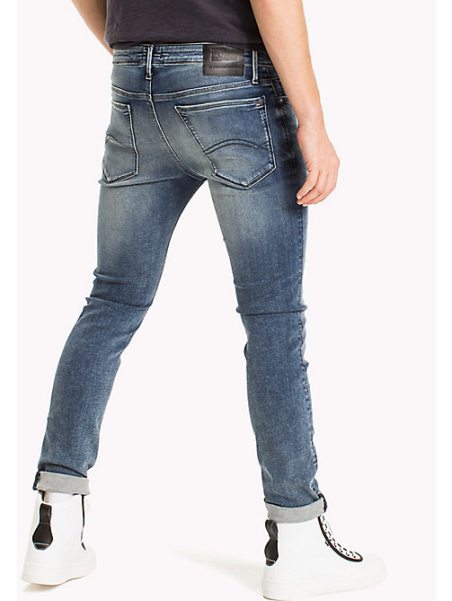 TOMMY JEANS Faded Stretch Skinny Fit Jeans - DYNAMIC IRVINE MID BLUE STRETCH - TOMMY JEANS Clothing - detail image 1