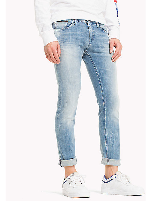 TOMMY JEANS Jeans slim fit in dynamic stretch - DYNAMIC ALISON LIGHT BLUE STRETCH - TOMMY JEANS TOMMY JEANS UOMINI - immagine principale
