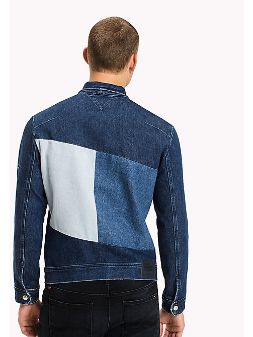 TOMMY JEANS Denim Patchwork Jacket - BLOCK FLAG MID BLUE RIGID - TOMMY JEANS Coats & Jackets - detail image 1