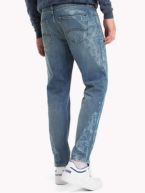 TOMMY JEANS Cropped Straight Fit Jeans - GRAPHIC FLAG MID BLUE RIGID - TOMMY JEANS Jeans - detail image 1