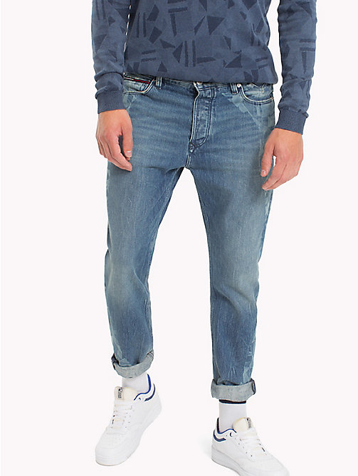 TOMMY JEANS Jean court straight fit - GRAPHIC FLAG MID BLUE RIGID - TOMMY JEANS Jeans - image principale