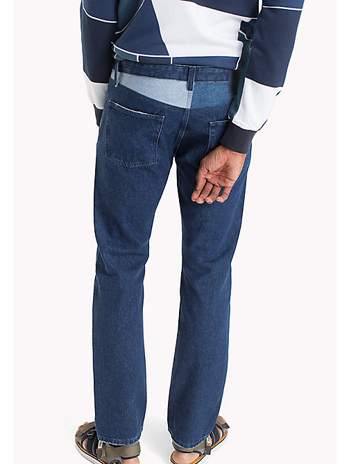 TOMMY JEANS Slim Straight Fit Jeans - BLOCK FLAG MID BLUE RIGID - TOMMY JEANS Jeans - main image 1