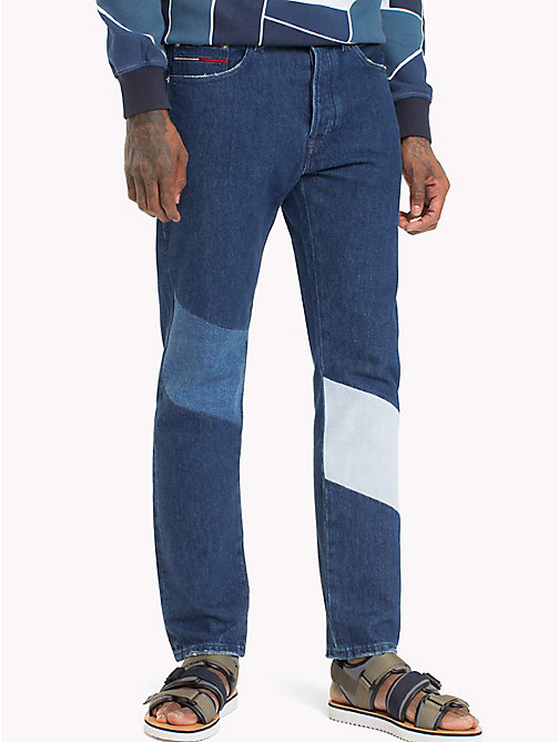 TOMMY JEANS Slim Straight Fit Jeans - BLOCK FLAG MID BLUE RIGID - TOMMY JEANS Jeans - main image