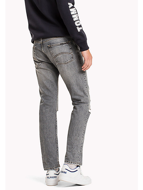 TOMMY JEANS Straight Fit Jeans - DUST GREY RIGID DESTRUCTED - TOMMY JEANS Jeans - detail image 1