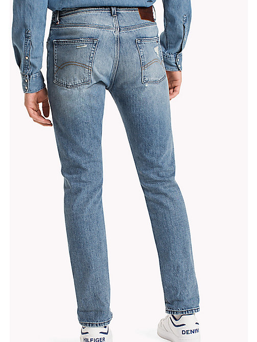 TOMMY JEANS Jean straight fit - COVE LIGHT BLUE RIGID DESTRUCTED - TOMMY JEANS Jeans - image détaillée 1