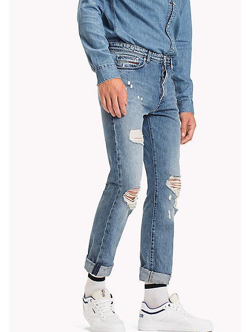 TOMMY JEANS Straight Fit Jeans - COVE LIGHT BLUE RIGID DESTRUCTED - TOMMY JEANS Jeans - main image