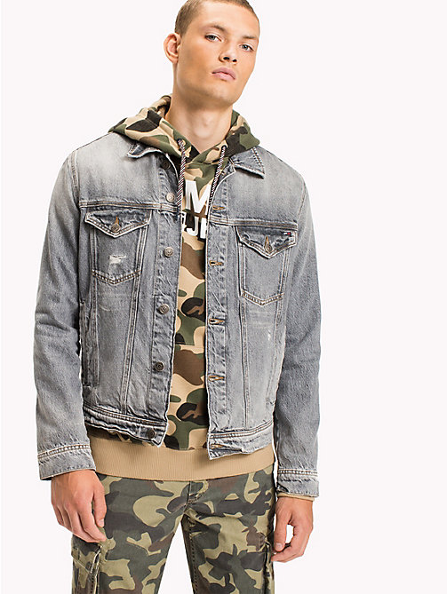 TOMMY JEANS Classic Denim Trucker - DUST GREY RIGID DESTRUCTED - TOMMY JEANS Coats & Jackets - main image