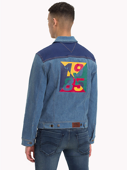 TOMMY JEANS Colour Block Denim Trucker - COLOR BLOCK MID BLUE COMFORT - TOMMY JEANS Coats & Jackets - main image
