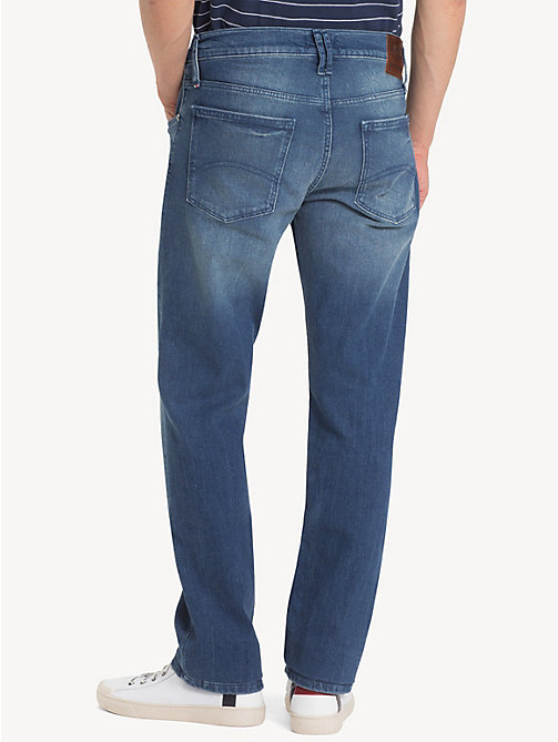 TOMMY JEANS Light Wash Straight Fit Jeans - BERRY MID BLUE COMFORT - TOMMY JEANS Clothing - detail image 1