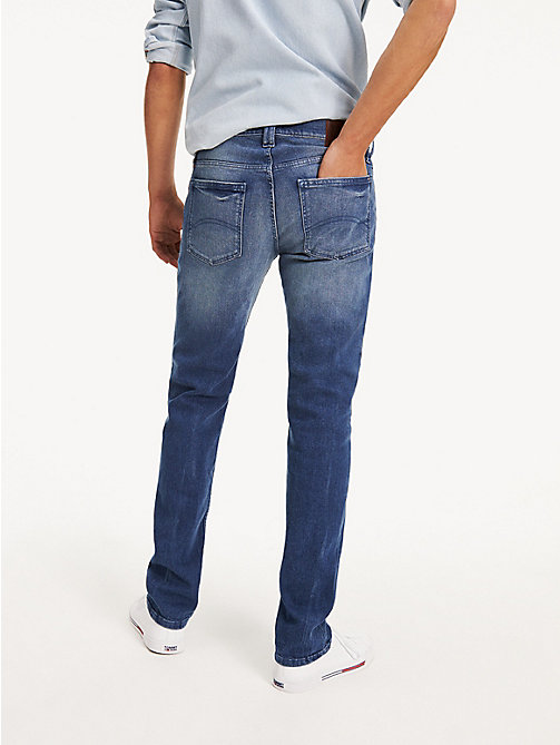 TOMMY JEANS Light Wash Straight Fit Jeans - BERRY MID BLUE COMFORT - TOMMY JEANS Straight Fit Jeans - detail image 1