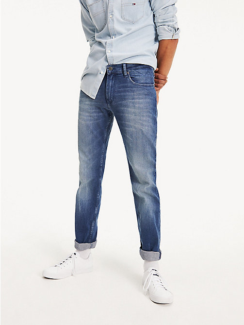 TOMMY JEANS Light Wash Straight Fit Jeans - BERRY MID BLUE COMFORT - TOMMY JEANS Straight Fit Jeans - main image