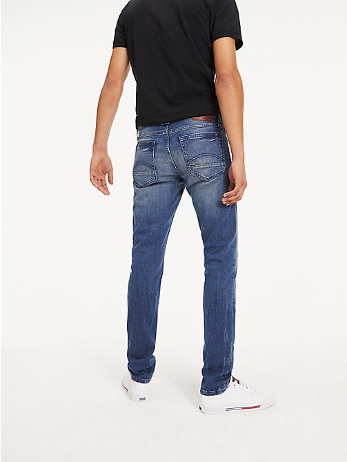 TOMMY JEANS Original Tapered Denim Jeans - BERRY MID BLUE COMFORT - TOMMY JEANS Tapered Jeans - detail image 1