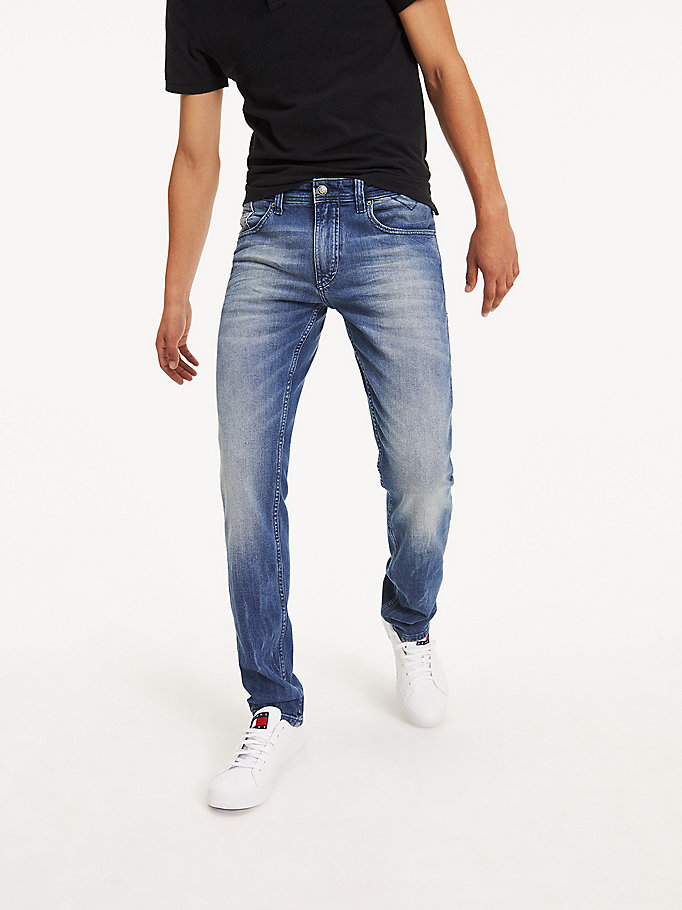 denim tapered fit jeans aus denim für herren - tommy jeans
