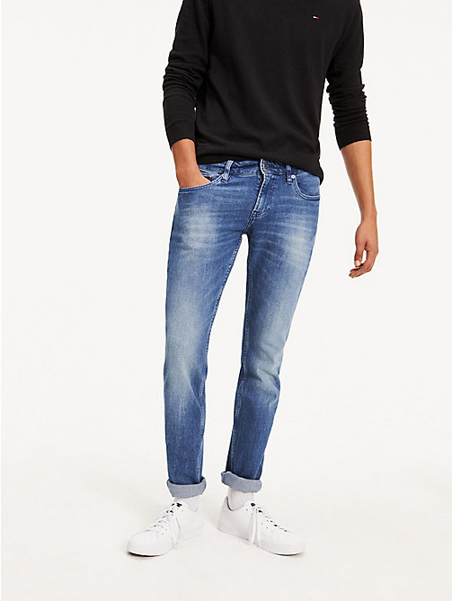 TOMMY JEANS Slim Fit Denim Jeans - BERRY MID BLUE COMFORT - TOMMY JEANS Slim Fit Jeans - main image